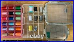 Brother PE770 Computerized Embroidery Machine Bundle Hoops Thread Stabilizer LOT