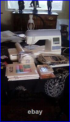 Brother PE770 Computerized Embroidery Machine, w hoops, 19 thumdrives load