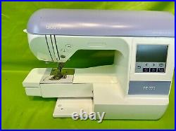 Brother PE770 Computerized Embroidery Machine with Plastic Cover Tested/Works