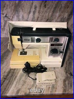 Brother VX760 Sewing Machine W Pedal & Carrying Case-RARE VINTAGE-SHIPS N 24 HRS