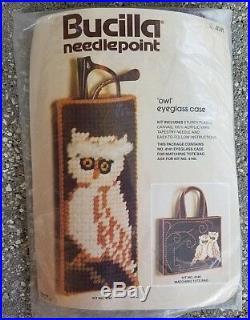 Bucilla Owl Eyeglass Carrying Case 4141 Needlepoint Craft