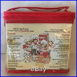 CAMPBELLS KIDS Set With Two 5 Vinyl Dolls Carrying Case Fibre Craft, 1995