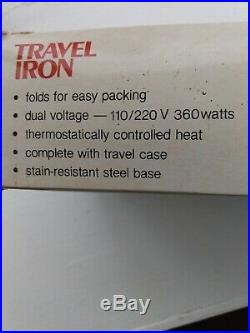 CHARLES CRAFT TRAVEL IRON New in the Box Carrying Case Instructions