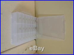 CLEAR PLASTIC HOT WHEELS OR CRAFT/LURES CARRYING CASE WithHANDLE 11.5 X 12.5 NWOT