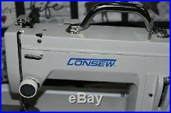 CONSEW CP206RL NEW STYLE WITH Walking Foot, CARRYING CASE, LED LIGHT
