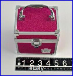 Caboodles Portable Makeup Craft Jewelry Carrying Case Hot Pink Sparkle Metal