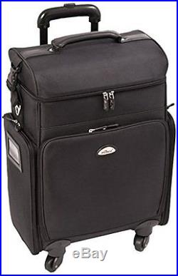 Craft Accents Soft-Sided Professional 4-Wheels Carry-On Rolling Makeup Case, All