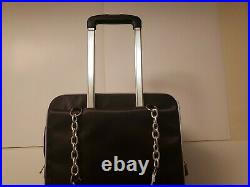 Craft Cute Luggage Wheeled Carry On Quilted Laptop Case Bag Black Laptop Expand