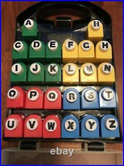 Craft Punch 26 Alphabet Set w carrying case A-Z English Alpha 3/8