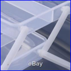 Craft Supply Storage Box/Firstaid Carrying Case with Top Handle Clear
