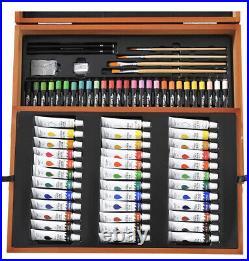 Crelando Artists Paint Box Art Set WoodenBox carry case 147 piece Acrylic