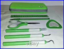 Cricut Tools Provo Craft 7 Piece Tool Kit With Green Storage Carrying Case