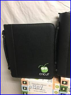 Cricut cartridge lot of 33 All Complete W Carrying Cases Wow