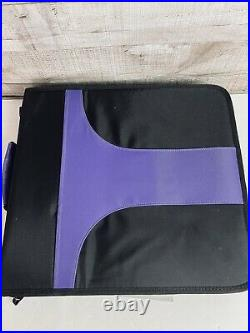 Crop in Style PSB Zippered 3-ring Binder Sticker Carrying Case Plus Extra Pages