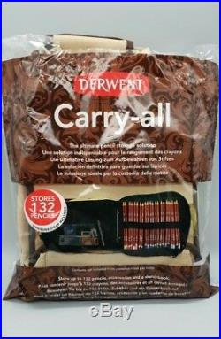Derwent 48 Artists Wooden Box Set Of Bendable Colour Pencils With Carry-all Case