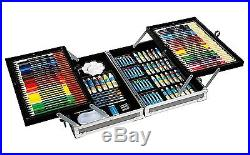 Durable All-Media Artist Painting/Drawing Set 126-Piece Aluminum Carrying Case