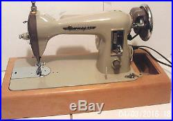 Electric Sewing Machine Gamages Dark Cream + Foot Control + Carrying Case