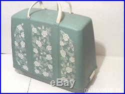Electric Sewing Machine Jones No A1 Pale Blue + Foot Control + Carrying Case