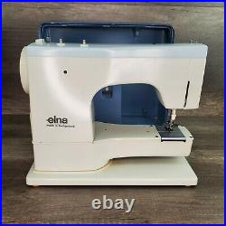 ELNA SU 62C Vintage Sewing Machine With Carry Case Tested