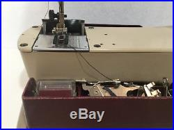 ELNA SUPERMATIC SEWING MACHINE SWISS MADE WithACCESSARY'S & CARRYING CASE
