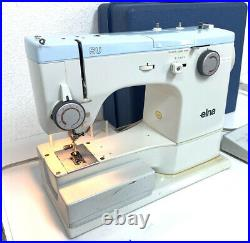 Elna SU 62C Free Arm Sewing Machine with carrying case & extras