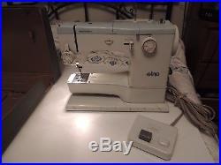 Elna Super 62C Sewing Machine Foot Pedal & Carrying Case Supermatic