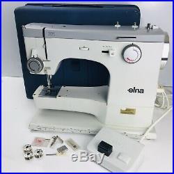 Elna ZZ Sewing Machine Vintage Design Classic Original Carry Case Switzerland