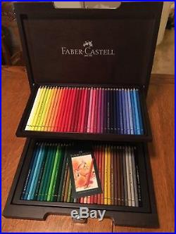 Faber Castell Polychromos 72 Pencil Set In Wooden Wenge Carry Case