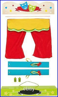 Fiesta Crafts CARRY-CASE FINGER PUPPET THEATRE Pretend Play BNIP