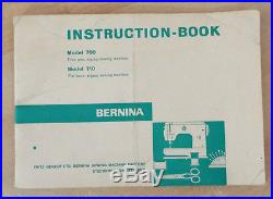 Fine Bernina 700 Free Arm Zig zag Sewing Machine with Accessories/Carrying Case