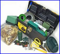 Floristry Floral Florist Tool Box Kit 50 Quality Items In Stanley Carry Case