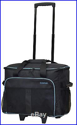 FoolsGold Pro Thick Padded Sewing Machine Trolley Bag Carry Case on Wheels