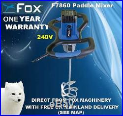 Fox F7880-240V Paddle Mixer, Plaster, Cement With Carry Case FREE DELIVERY
