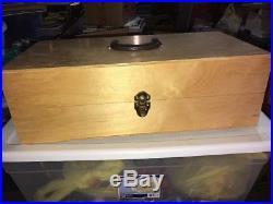 GENESIS Artist Colors Heat Set Oils Wooden Carry Case N Drying Gun New In Box