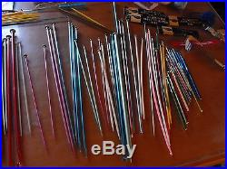 GREAT LOT! Vintage Knitting Needles & Crochet Needles and more! With Carry Case