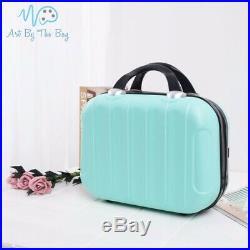 Green Diamond Painting Resin Storage Case +132 Bottles Craft Carry Bag NEW