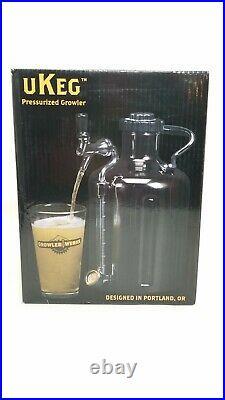 GrowlerWerks uKeg 128 oz Pressurized Growler For Craft Beer