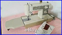 HEAVY KENMORE zigzag SEWING MACHINE 158-12471 leather+ carrying case (n408)p3