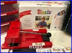 HUGE LOT of Sizzix Die Cutter, 100's of Dies, Wheeled Carry/Storage Tote Case