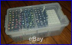 HUGE Lot 91 Prismacolor Markers Chisel Fine Brush Tip Dual End With Carry Case
