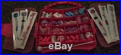 HUGE Lot BIZU Style Studio Beads Animal Bracelets Jewelry Carry Case OVER 200