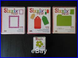 HUGE SIZZIX LOT Original Machine, 3 Full Alphabet Sets, Carrying Case & Dies