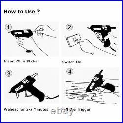 Hot Melt Mini Glue Gun, Carrying Case, Electric DIY Adhesive Hobby Craft 50pcs