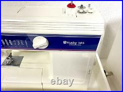 Husky 145 Husqvarna viking Sewing Machine w Foot Pedal and Carry Case