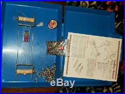 Indian Beads craft set in a blue plastic carrying case (e1)