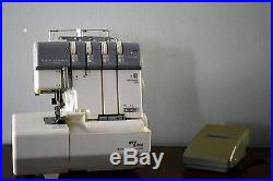 JANOME NEW HOME MY LOCK 634D Serger with hard shell carry case