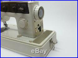 JC Penny Mechanical Sewing Machine Model 6701 With Carrying Case Tested