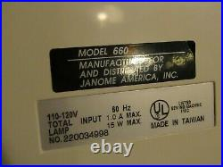 Janome JEM GOLD 660 Portable Sewing / Quilting Machine w Carrying Case WORKS