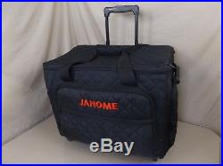Janome Sewing Machine Wheeled Padded Quilted Trolley Carrying Case