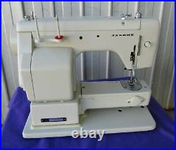 Janome Zig Zag Sewing Machine Attachments Accessories Manual Carry Case Vintage